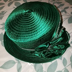Beautiful Green Spring Church Hat